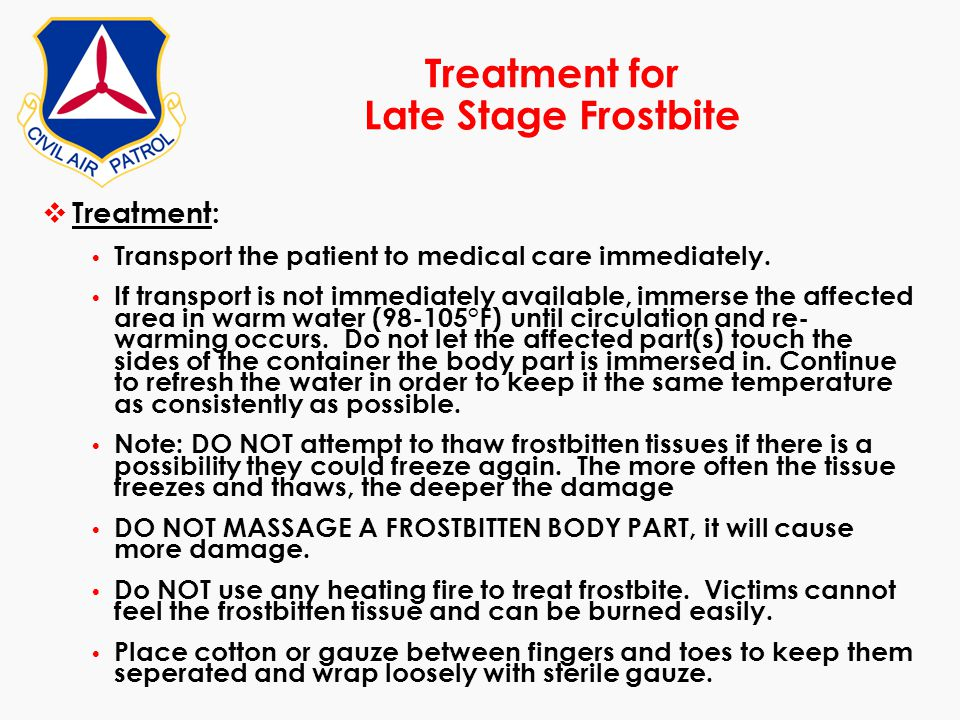 Treatment for Late Stage Frostbite