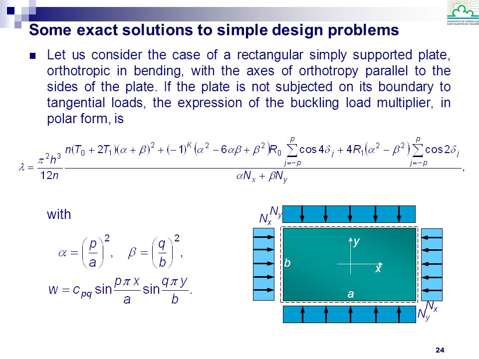 Some exact solutions to simple design problems