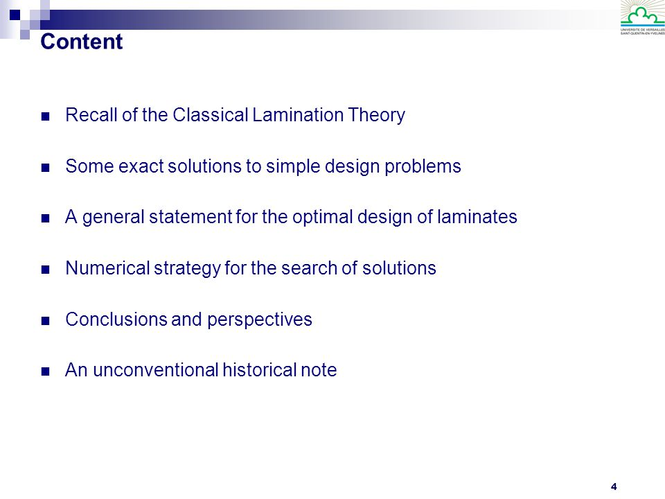Content Recall of the Classical Lamination Theory