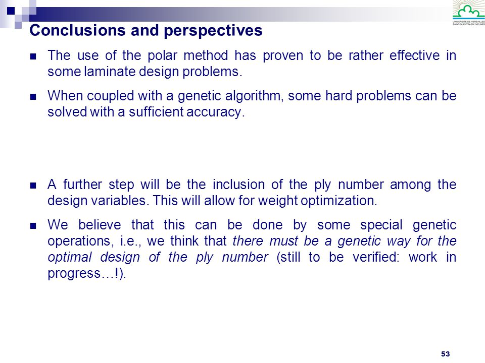 Conclusions and perspectives