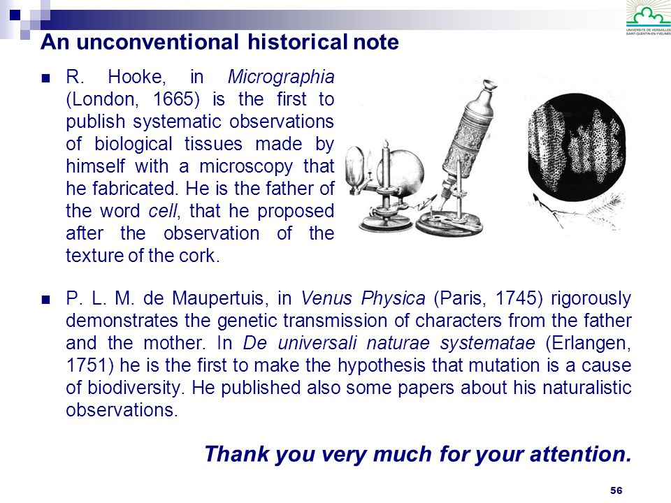 An unconventional historical note