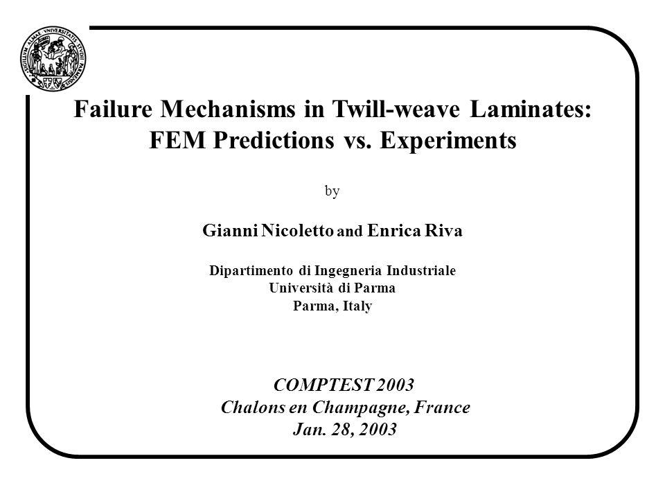 Failure Mechanisms in Twill-weave Laminates: