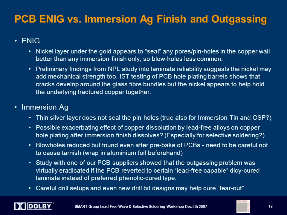 PCB ENIG vs. Immersion Ag Finish and Outgassing
