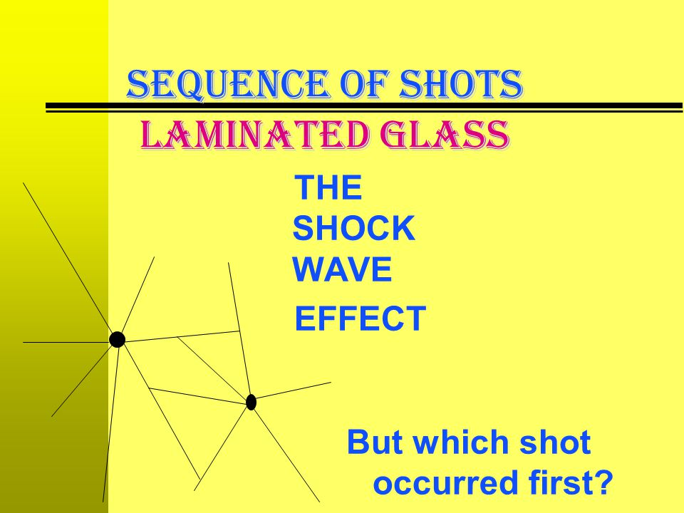 SEQUENCE OF SHOTS LAMINATED GLASS