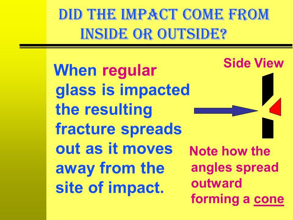 DID THE IMPACT COME FROM INSIDE OR OUTSIDE