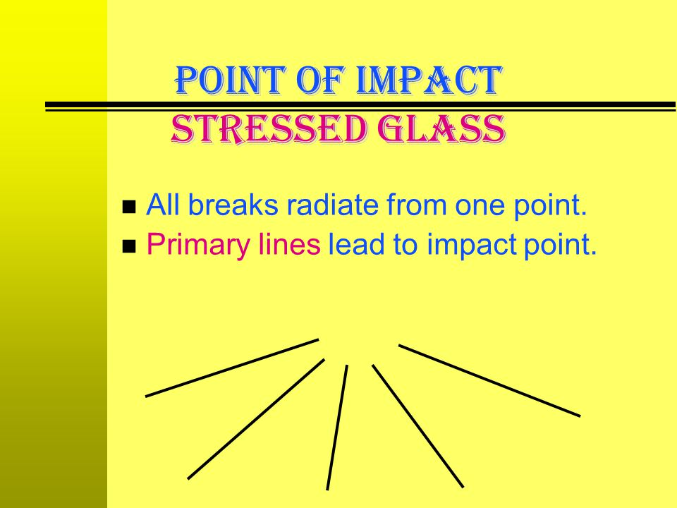 POINT OF IMPACT Stressed Glass