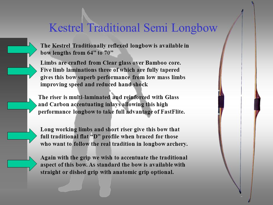Kestrel Traditional Semi Longbow