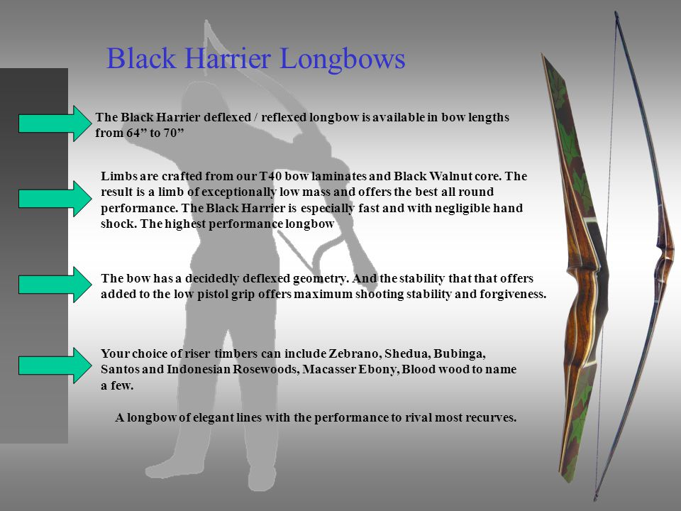 Black Harrier Longbows