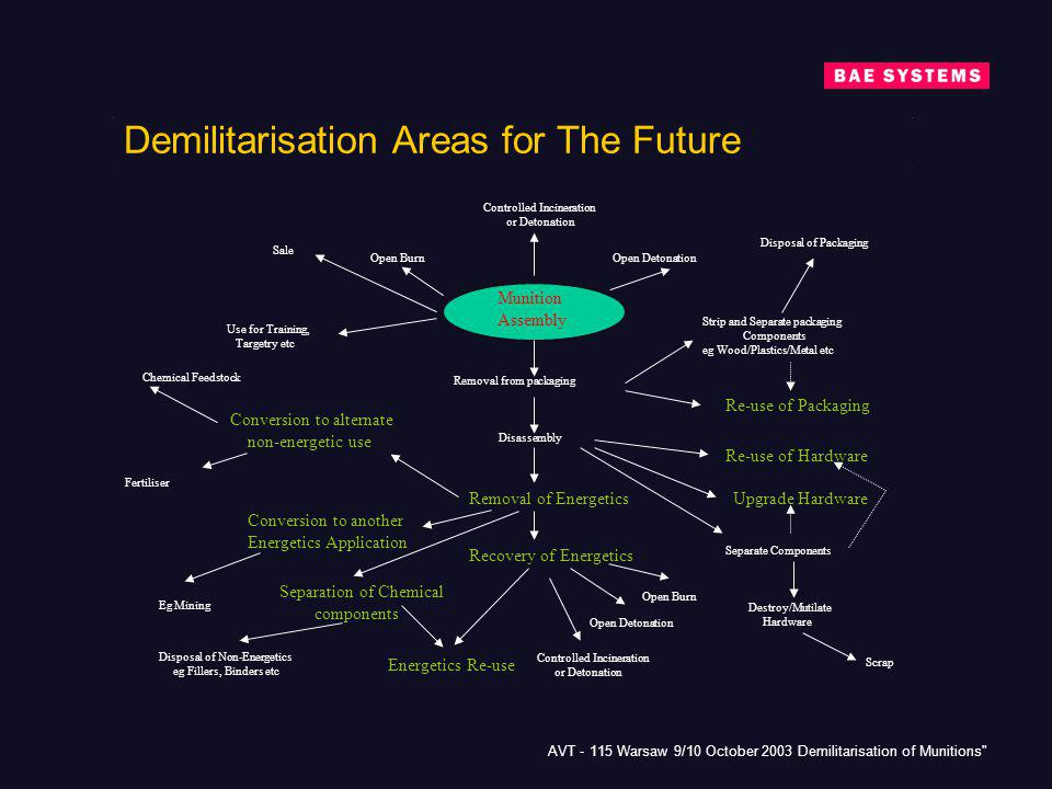 Demilitarisation Areas for The Future