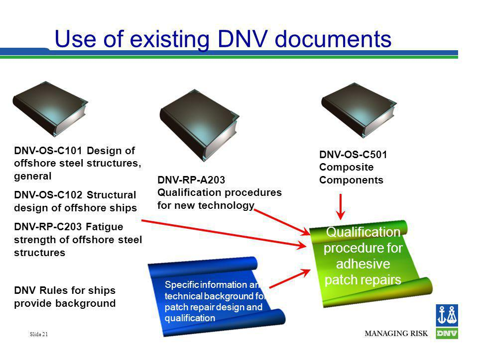 Use of existing DNV documents