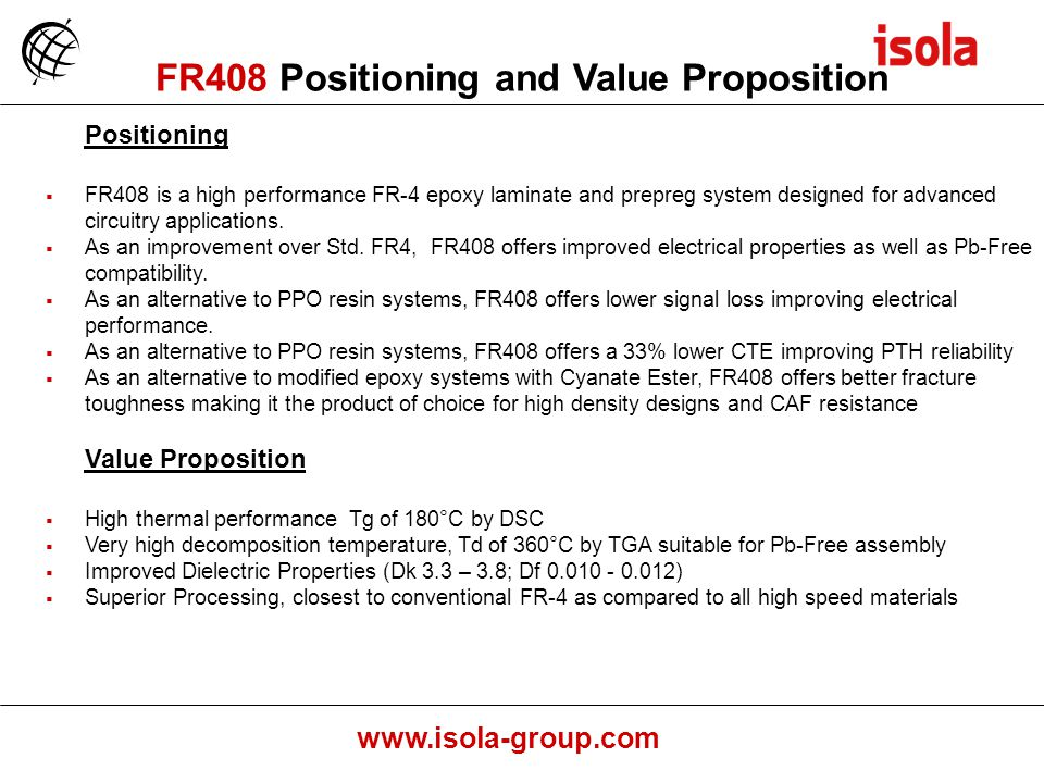 FR408 Positioning and Value Proposition