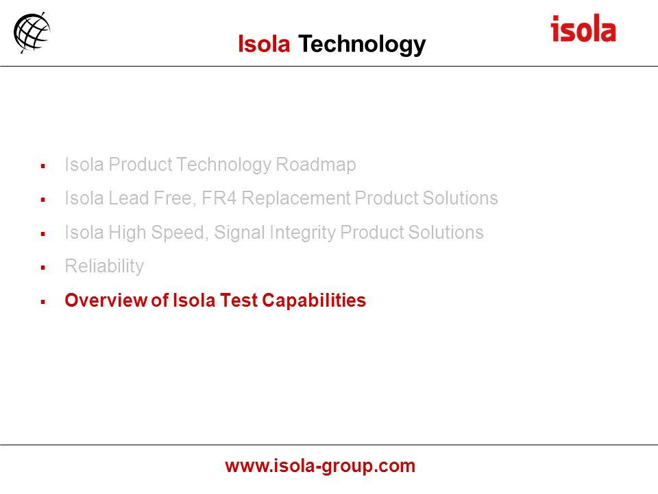 Isola Technology Isola Product Technology Roadmap
