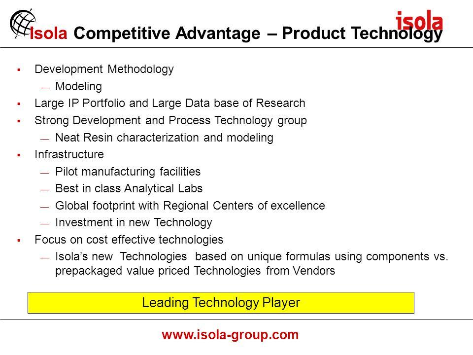 Isola Competitive Advantage – Product Technology
