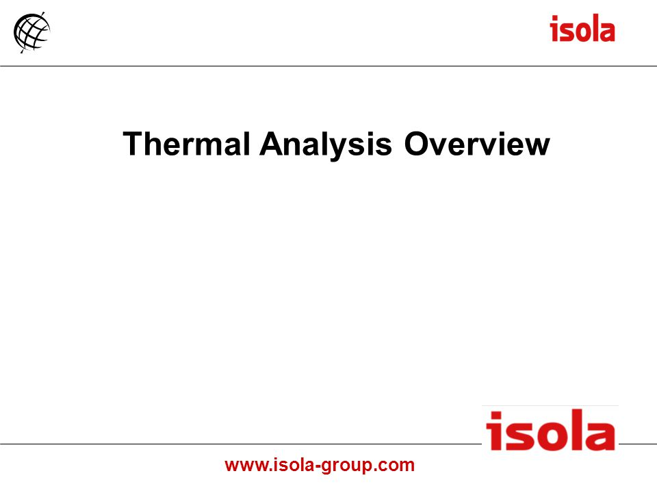 Thermal Analysis Overview