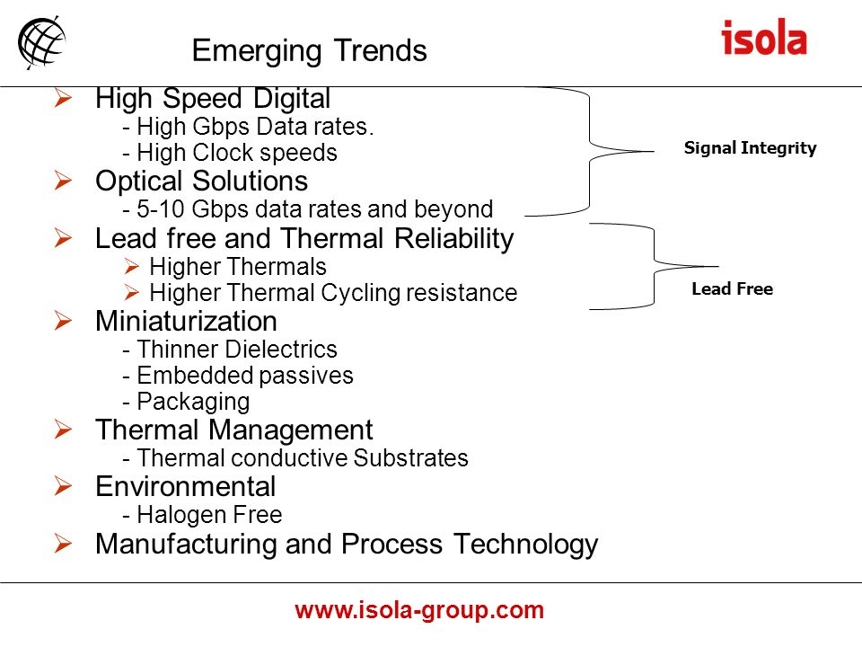 Emerging Trends High Speed Digital Optical Solutions