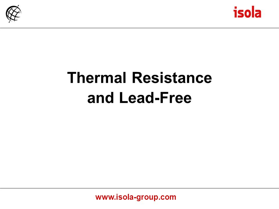 Thermal Resistance and Lead-Free