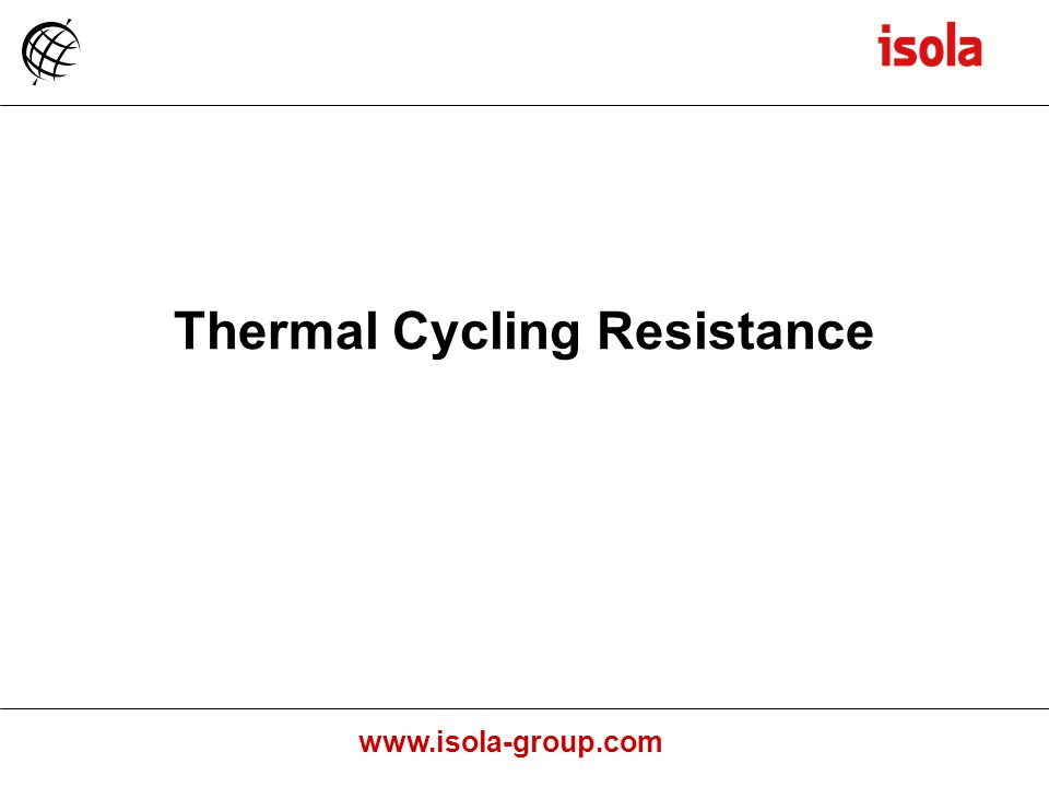 Thermal Cycling Resistance