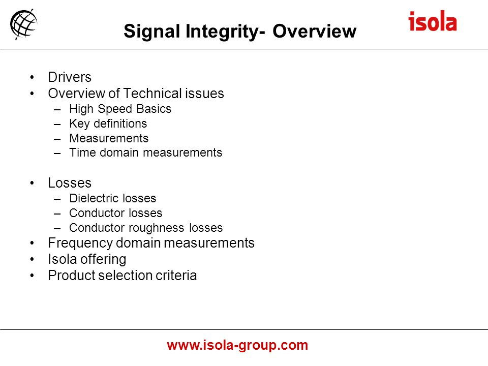 Signal Integrity- Overview