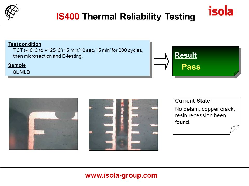 IS400 Thermal Reliability Testing