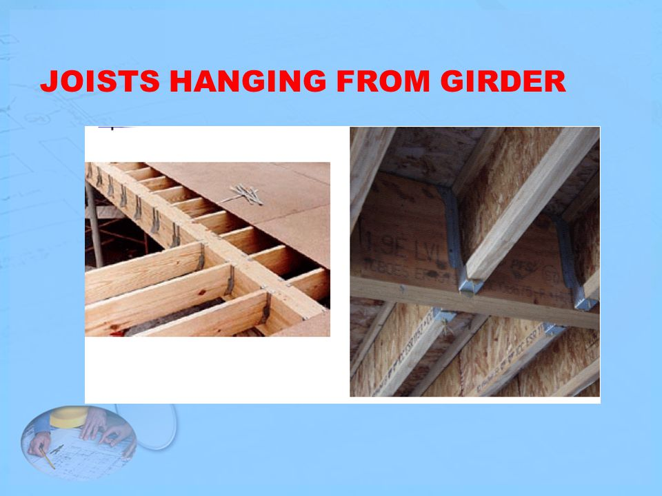 JOISTS HANGING FROM GIRDER