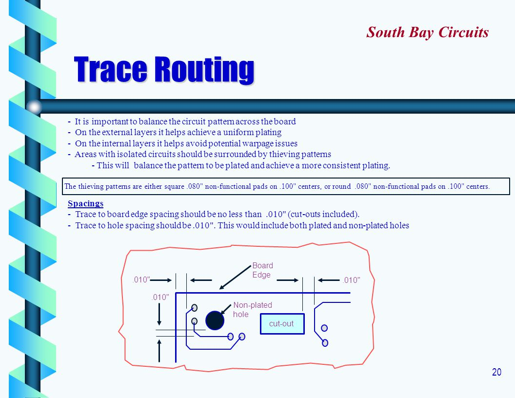 Trace Routing South Bay Circuits
