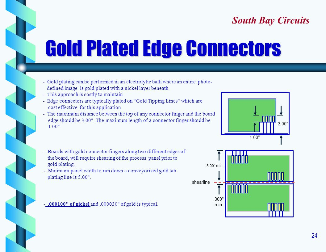 Gold Plated Edge Connectors