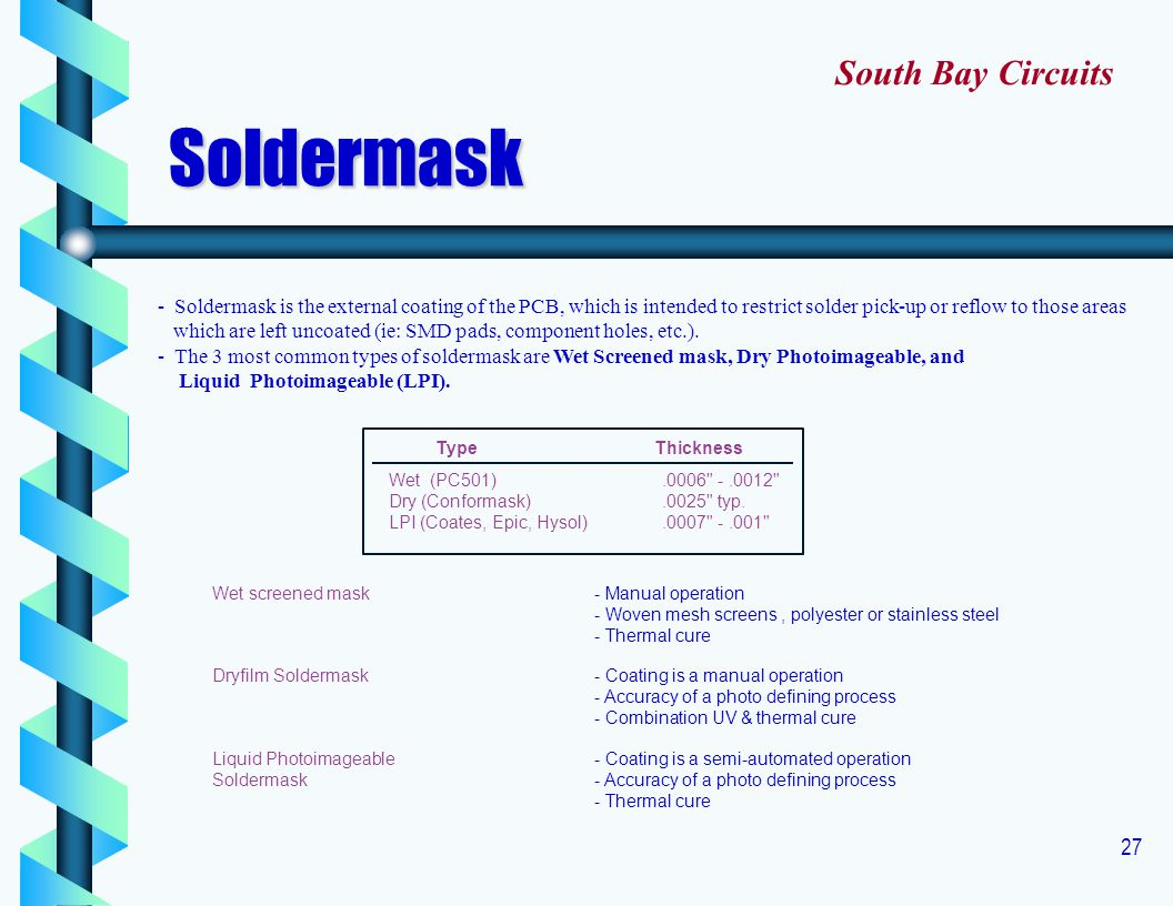 Soldermask South Bay Circuits