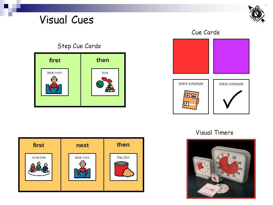 Visual Cues Cue Cards Step Cue Cards Visual Timers