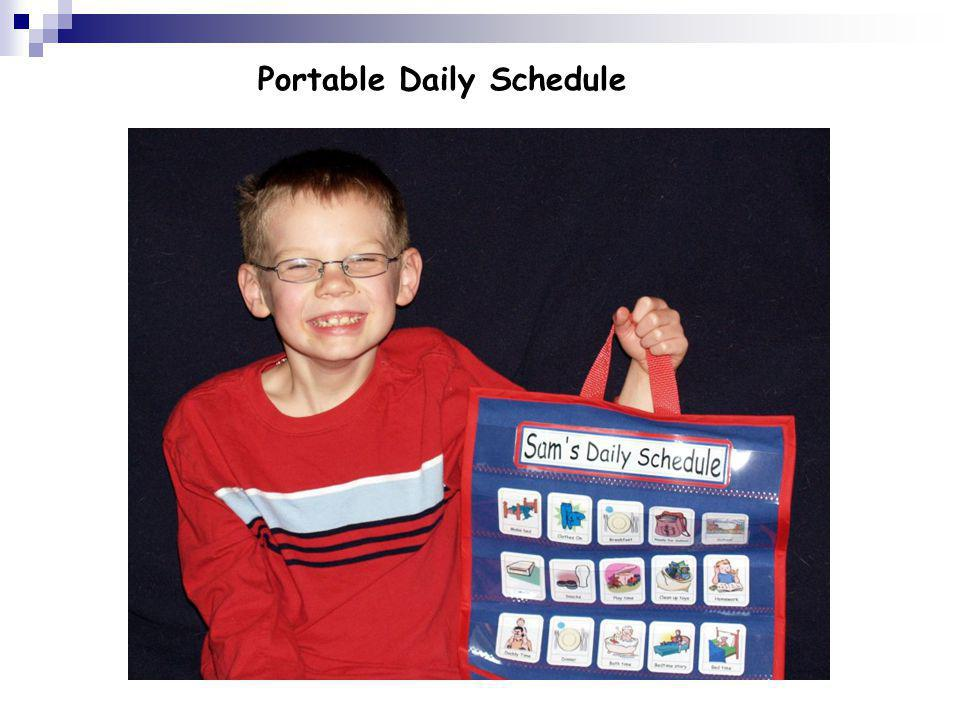 Portable Daily Schedule