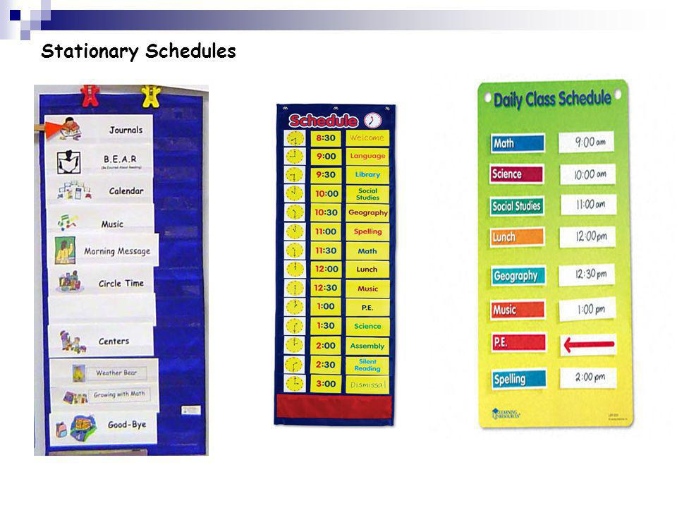 Stationary Schedules