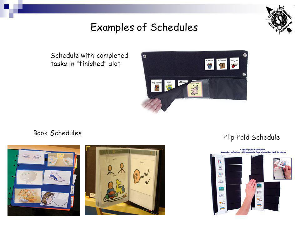 Examples of Schedules Schedule with completed tasks in finished slot