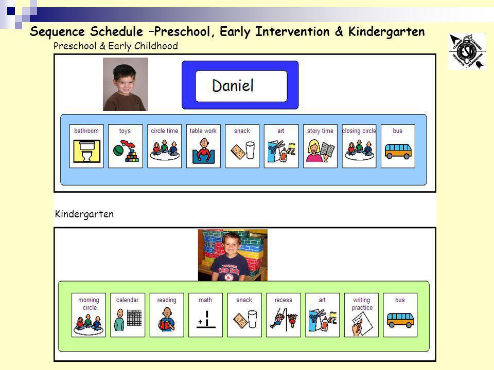 Sequence Schedule –Preschool, Early Intervention & Kindergarten