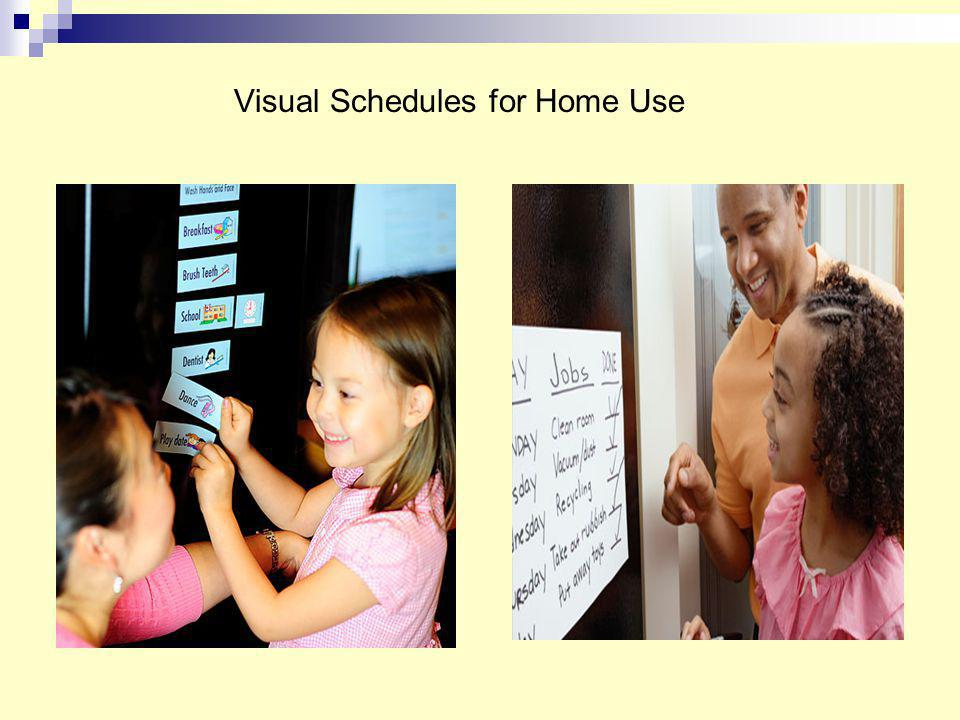 Visual Schedules for Home Use