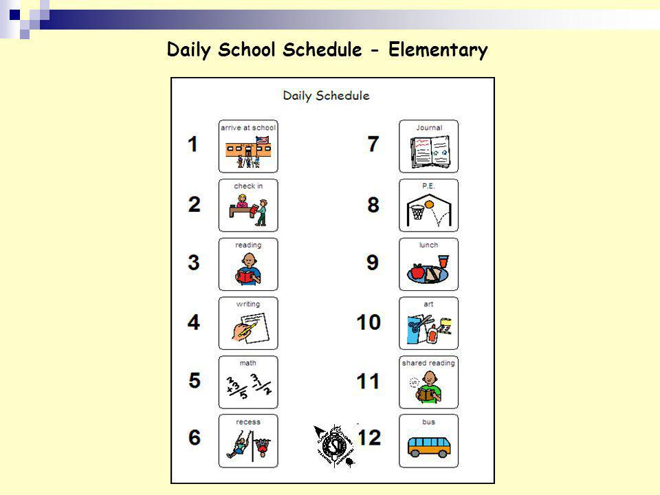 Daily School Schedule - Elementary