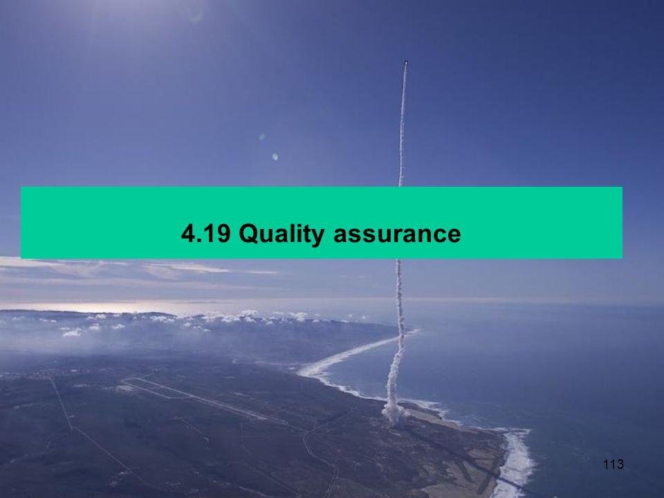 4.19 Quality assurance