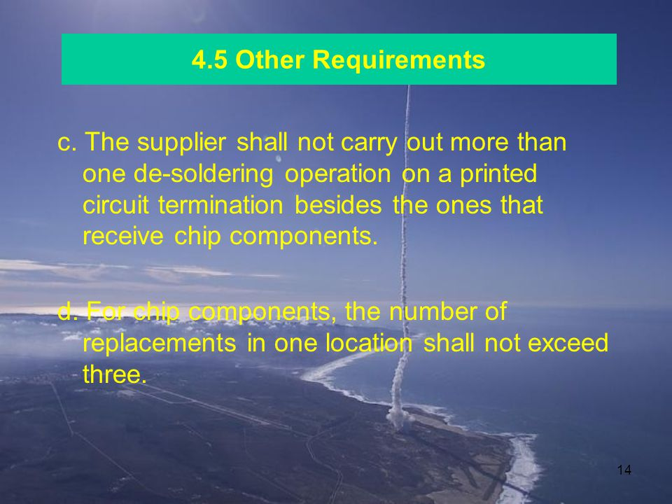 4.5 Other Requirements