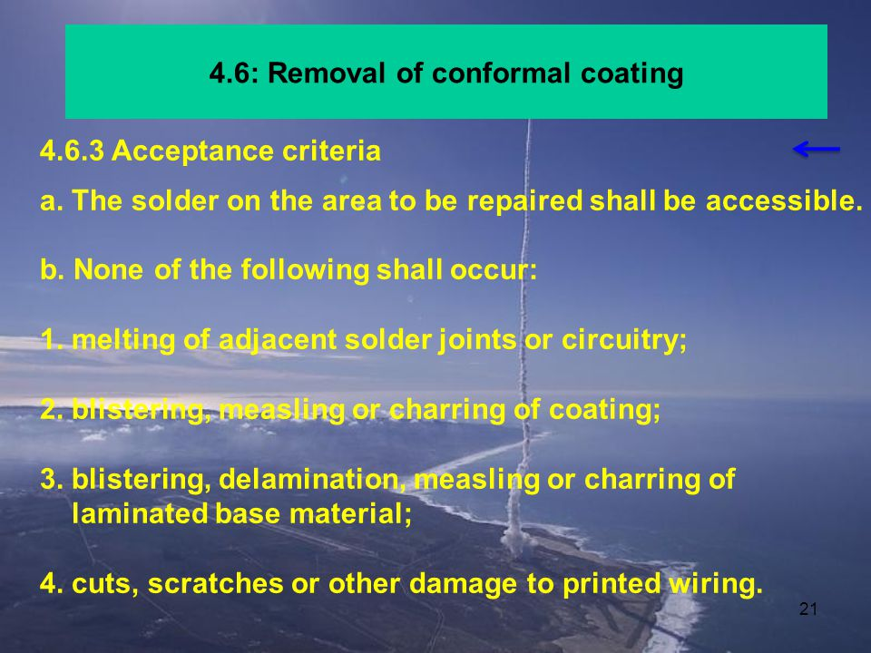 4.6: Removal of conformal coating