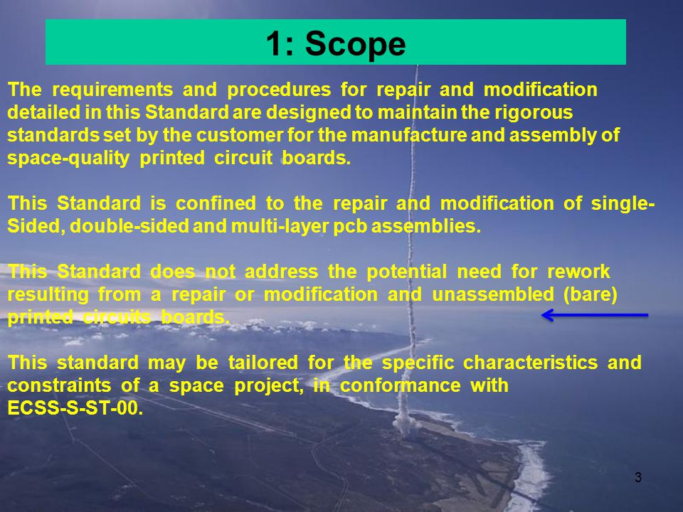 1: Scope The requirements and procedures for repair and modification