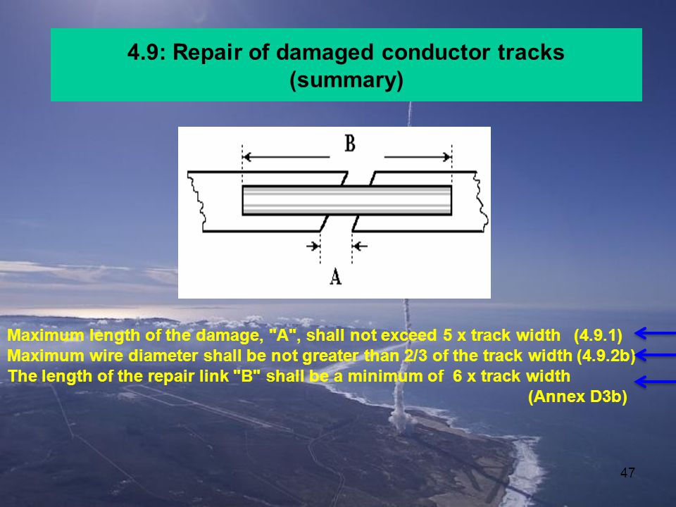 4.9: Repair of damaged conductor tracks (summary)