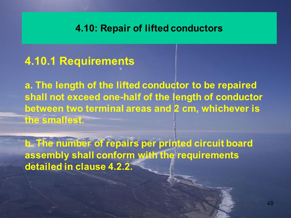 4.10: Repair of lifted conductors