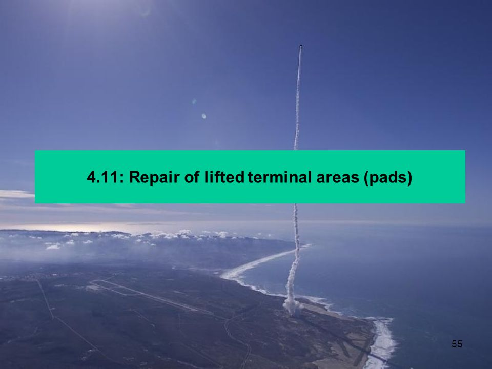 4.11: Repair of lifted terminal areas (pads)