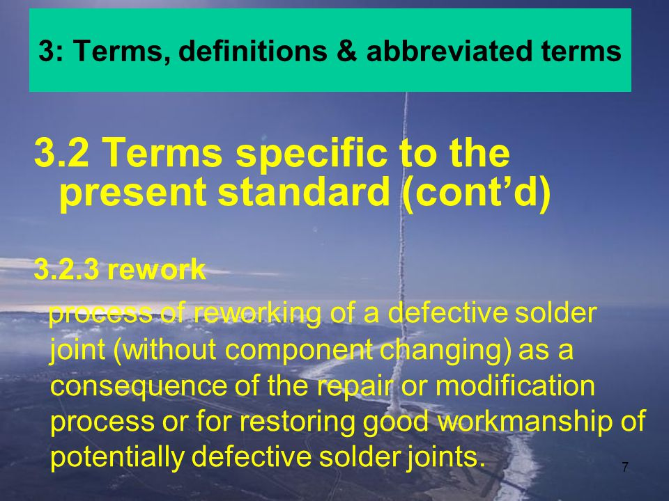 3: Terms, definitions & abbreviated terms