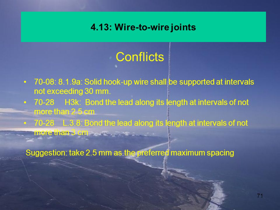 Conflicts 4.13: Wire-to-wire joints