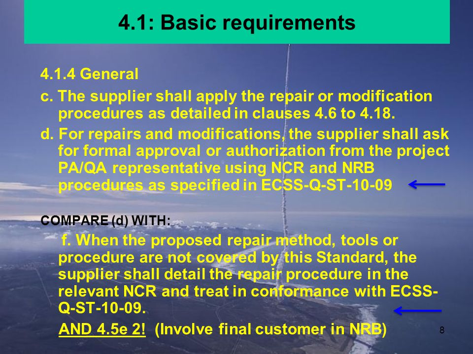 4.1: Basic requirements 4.1.4 General