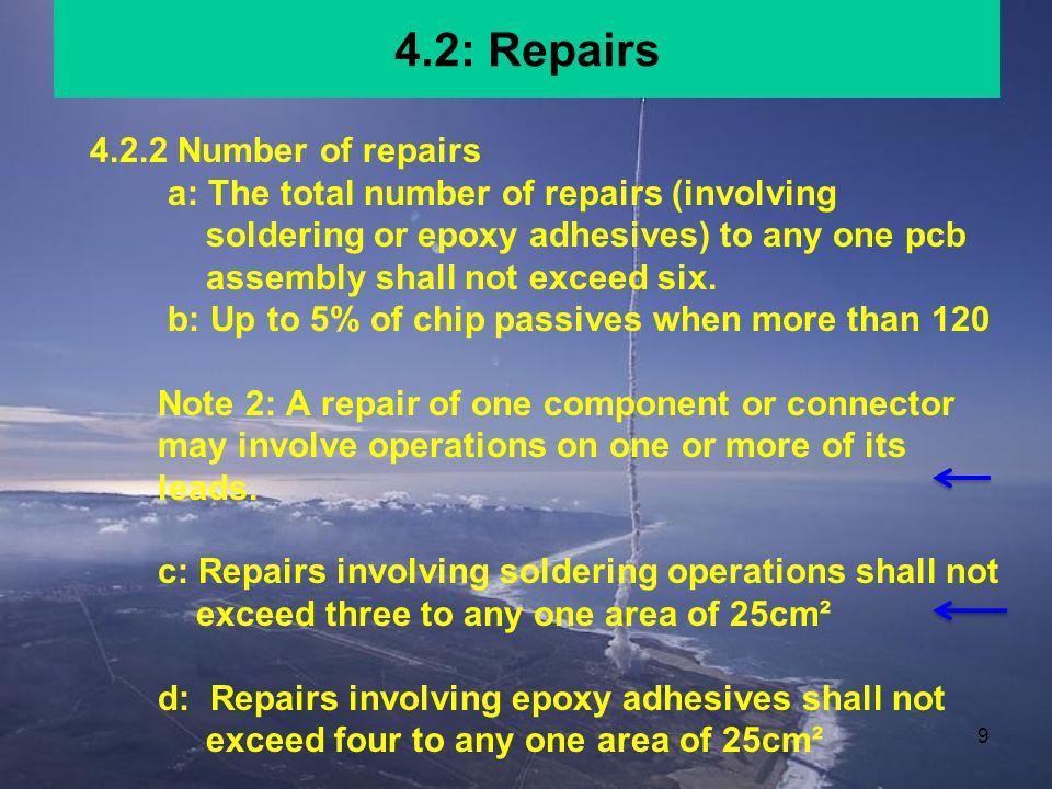 4.2: Repairs 4.2.2 Number of repairs