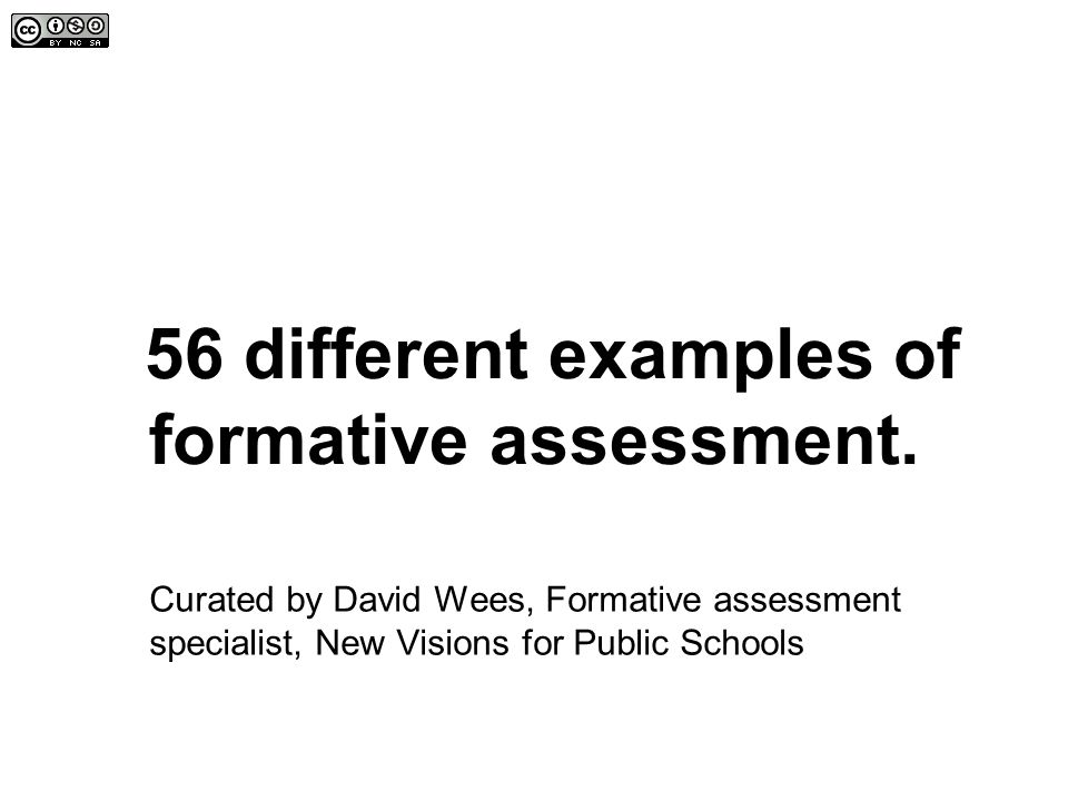 56 Different Examples Of Formative Assessment. - Ppt Video Online