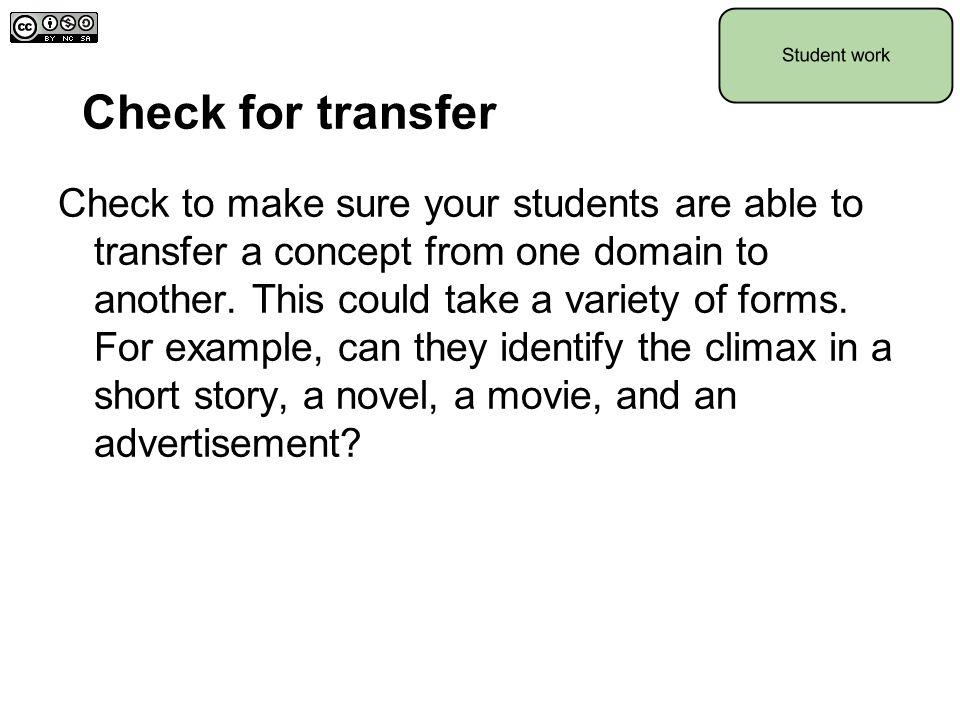 Check for transfer