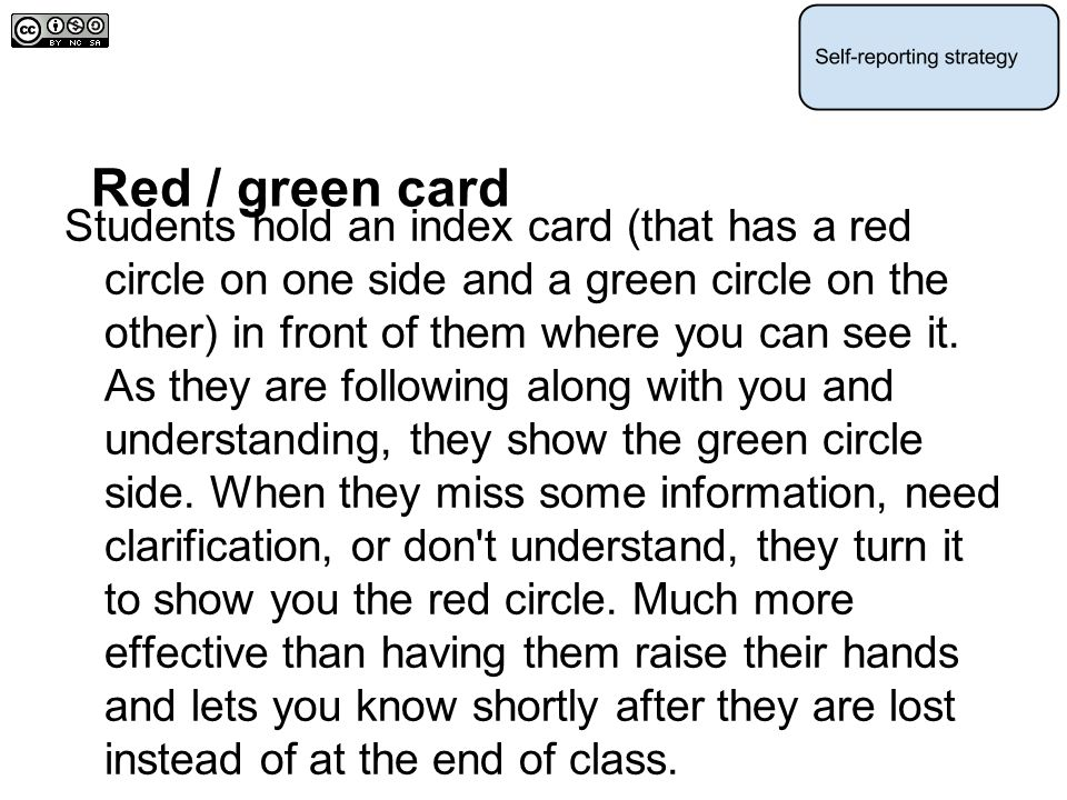 Red / green card