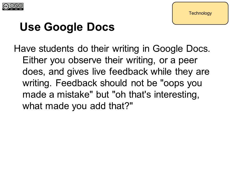 Use Google Docs