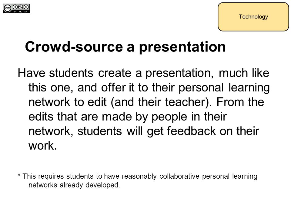 Crowd-source a presentation